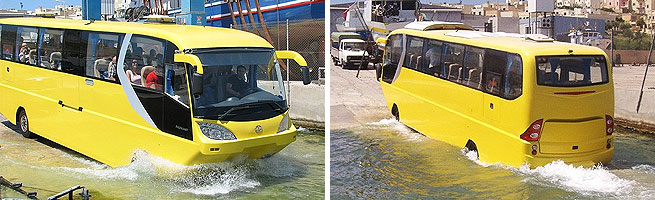 Modelo traz os mesmos requintes de um ônibus convencional, como ar-condicionado e DVD-player para passageiros