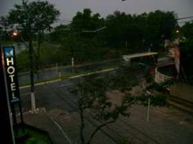 Vista do segundo andar da janela do Hotel Aeroporto na Av. Ferreira Chagas, 30 - Mata da Praia.