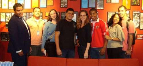Da esquerda para a direita: Oriente dos Santos, Eduardo Rolim, Gisele Vasconcelos, Diego Freitas, Letícia Lemos, Charles Vicente, Bruna Lima, Ivanaldo..