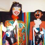 Galpão das Artes abre exposição com bonecos gigantes
