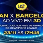 UEFA Champions League ao vivo em 3D no cinema no Rio