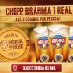 Chopp Brahma por 1 Real no Rio de Janeiro