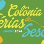 Colônia de Férias do Sesc Rio em Janeiro 2014